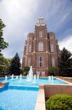 Templo mormónico Imagenes de archivo