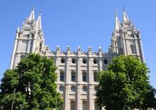Templo mormónico de LDS fotografía de archivo