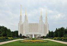 Templo mormónico del Washington DC imagenes de archivo