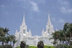 Templo mormónico en La Jolla, CA Imagen de archivo libre de regalías
