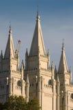 Templo mormónico en Salt Lake City Foto de archivo