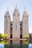 Templo mormónico en Salt Lake City, Utah Fotos de archivo libres de regalías