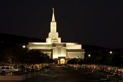 Templo mormónico -- Generoso, Utah Fotos de archivo libres de regalías