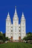 Templo mormónico, Salt Lake City Foto de archivo libre de regalías