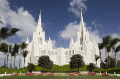 Templo mormónico - San Diego, California Imagen de archivo libre de regalías