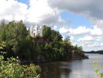 Templo na borda da costa da baía Foto de Stock
