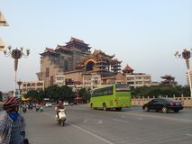 Templo na cidade de China de YuLin imagem de stock