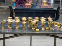 Templo na cidade de Guiyang, China Fotos de Stock Royalty Free
