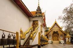Templo na cume, Chiang Mai Imagens de Stock