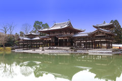 Templo na estação do inverno, Japão de Byodoin Imagem de Stock