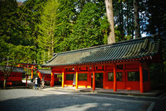 Templo na montanha de Hakone, Japão imagem de stock royalty free
