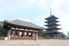 Templo Nara de Kofuku-ji imágenes de archivo libres de regalías