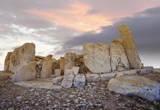Templo neolítico, Malta Imágenes de archivo libres de regalías