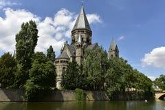 Templo Neuf em Metz, Lourraine, França Foto de Stock