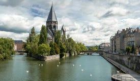 Templo Neuf en Metz Fotografía de archivo libre de regalías