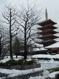 Templo nevado Imagens de Stock Royalty Free