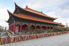 Templo no complexo o dos três pagodes do templo de Chongsheng perto de Dali Old Town, província de Yunnan, China Fotos de Stock Royalty Free