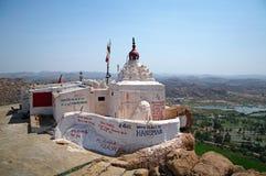 Templo no monte de Anjaneyaâs, Hampi de Hanuman fotos de stock royalty free