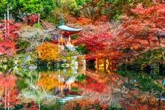 Templo no outono, Kyoto de Daigoji Estações do outono de Japão Fotografia de Stock Royalty Free