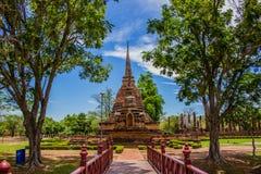 Templo no parque histórico Tailândia de Sukhothai Fotografia de Stock