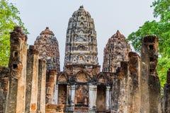 Templo no parque histórico Tailândia de Sukhothai Fotos de Stock Royalty Free