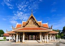 Templo no parque memorável, Banguecoque Tailândia imagem de stock royalty free