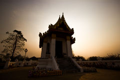 Templo no por do sol Fotografia de Stock Royalty Free