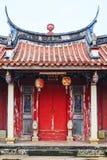 Templo oriental tradicional com a decoração bonita em Taiwan Fotos de Stock Royalty Free