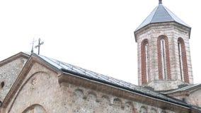 Templo ortodoxo afuera Cruz y bóveda almacen de metraje de vídeo