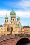 Templo ortodoxo santo-Issidorovsky. St Petersburg Imágenes de archivo libres de regalías