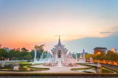 Templo ou Wat Rong Khun branco imagem de stock