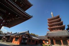 Templo pacífico en Japón foto de archivo libre de regalías