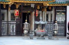 Templo Phillip Street Singapore de Yueh Hai Ching Teochew Chinese Taoist Fotos de archivo