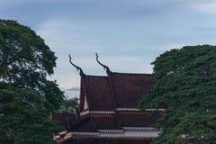 Templo por la mañana Fotos de archivo libres de regalías