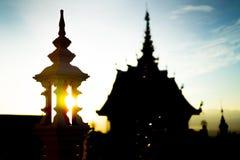 Templo por la tarde antes de la puesta del sol Fotografía de archivo libre de regalías