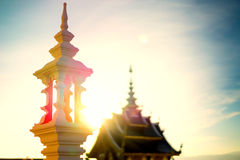 Templo por la tarde antes de la puesta del sol Imagen de archivo