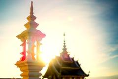 Templo por la tarde antes de la puesta del sol Foto de archivo