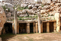 Templo pré-histórico de Ggantija Foto de Stock Royalty Free