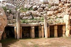 Templo prehistórico de Ggantija Foto de archivo libre de regalías