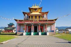 Templo principal del Ivolginsky Datsan Imagenes de archivo
