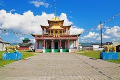 Templo principal del Ivolginsky Datsan Fotografía de archivo libre de regalías