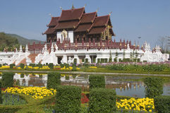 Templo real da flora em Tailândia Imagens de Stock