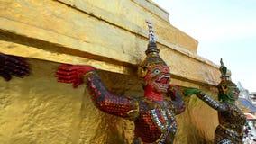 Templo real da imagem esmeralda de buddha video estoque