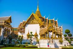 Templo religioso em Banguecoque Fotografia de Stock