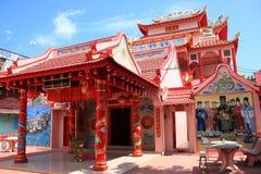 Templo rojo chino fotos de archivo libres de regalías