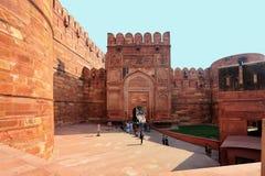 Templo rojo del fuerte de Agra, la India Foto de archivo libre de regalías