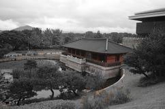 Templo rojo en Corea Imagen de archivo libre de regalías