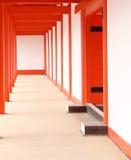 Templo rojo y blanco Imágenes de archivo libres de regalías