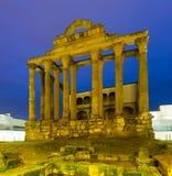 Templo romano antiguo de Diana en Mérida Fotos de archivo