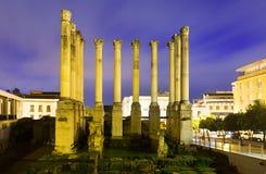Templo romano antiguo en Córdoba Foto de archivo